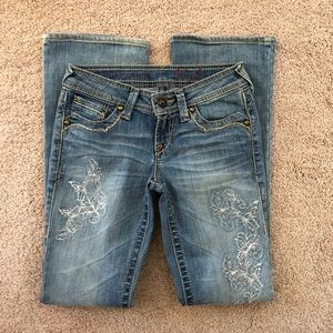 Ariat embroidered jeans - like new